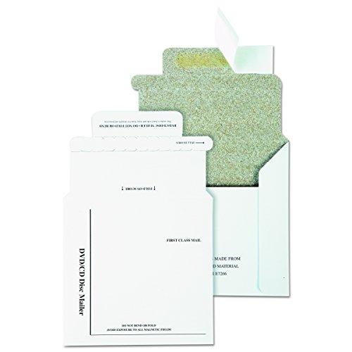 Mailer Gepolsterte Cd (Qualität Park e7266Qualität Park recyceltem Multimedia/CD-Versandtaschen, Schaum-, 5x 5, 25/Box)