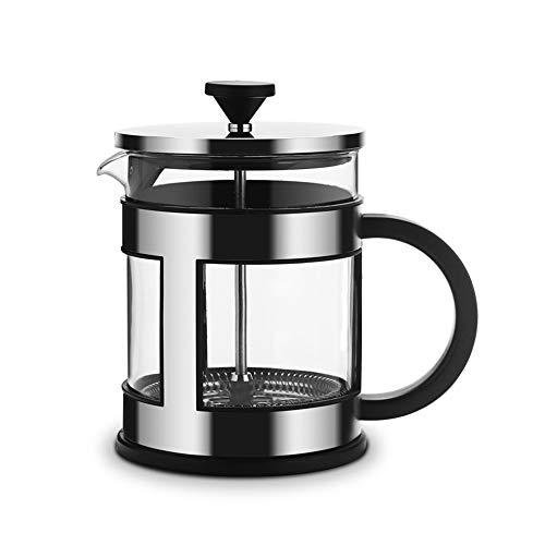 WWSUNNY French Press Kaffee- und Teezubereiter, 3 ultrafeine Filtersiebe und Borosilikatglas,...
