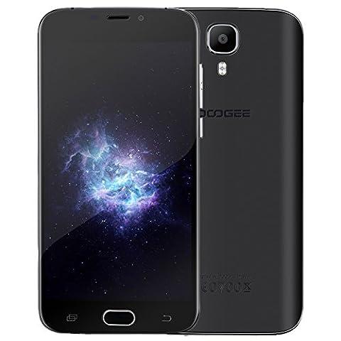 DOOGEE X9 Pro Smartphone Ohne Vertrag ( 5,5 Zoll, 16 GB Speicher, Android 6.0, 4G, Dual SIM, 5.0MP + 8.0MP Kamera , 3000mAh Fingerabdruck - (Neue Mini-flagge)
