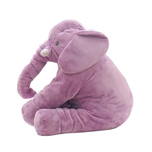 Bebe peluche peluches elefante recien para almohada grandes cojines gigante cojin,Purple,60cm