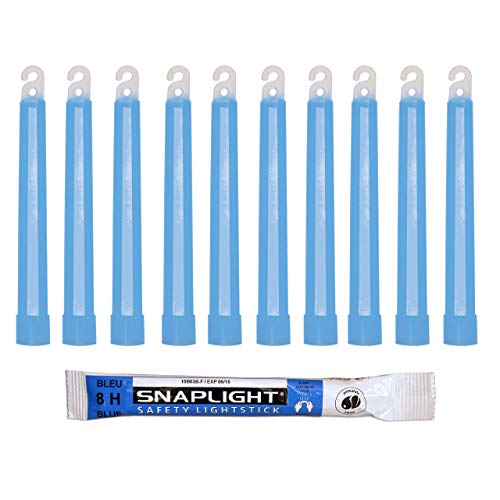 Cyalume Bastoncini Luminosi Blu SnapLight Glow Sticks 15 cm - 6 Inch Light Stick ultra-luminoso con una durata da 8 Ore (Scatola da 10 pezzi)