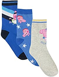 Peppa Pig - Calcetines Paquete de 3 para Niños - George Pig