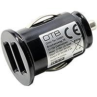 Adaptador de carga con reconocimiento duo USB de coche 2x 2,4A para Oppo F1;para una carga rápida en su coche