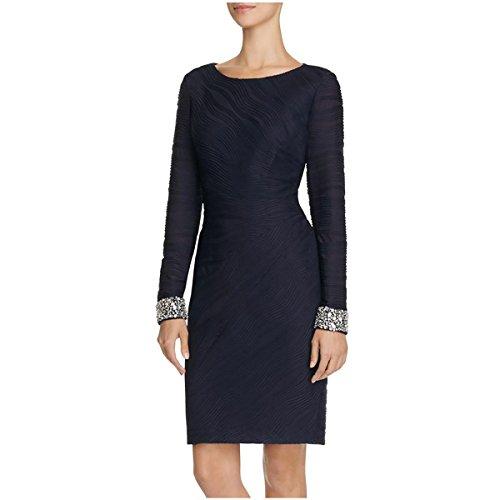 Eliza J Womens Embellished Pintucked Semi-Formal Dress