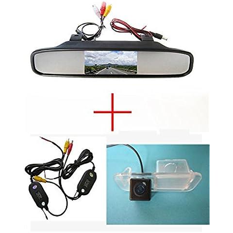 fuway Wireless CCD Car Rear View Reverse Camera per Kia K2Rio Sedan, con 4.3pollici schermo LCD a colori TFT monitor a specchio