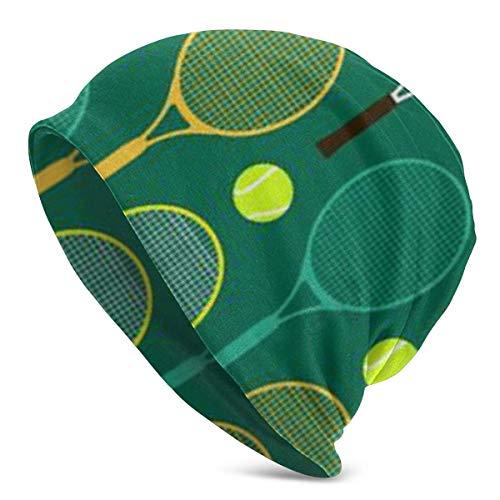 Blau und Grün Tennis Womens Beanie Infinity Schal Schlaf Mütze Hut für Haarausfall Krebs Chemo -