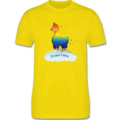 Comic Shirts - Drama Lama - Herren Premium T-Shirt Lemon Gelb
