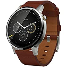 "Motorola Moto 360 - SmartWatch(WiFi, pantalla de 1.56"", 2ª generación, 46 mm, QC 8026, 512 MB de RAM, Android Wear) color coñac"