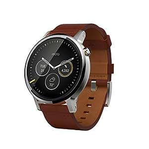 Motorola Moto 360 2a Generazione Smartwatch, 46 mm, 4 GB, 512 MB RAM, Cinturino in Pelle, Cognac