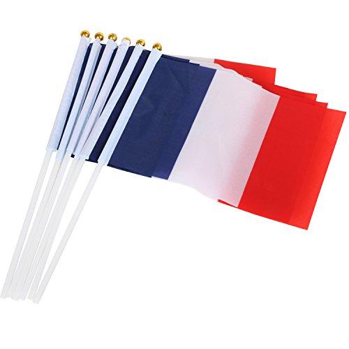 che Handflaggen aus Nylon Frankreich Feiern Fahne Fähnchen Bastille Day Feier Sport Fan Unterstützung ()