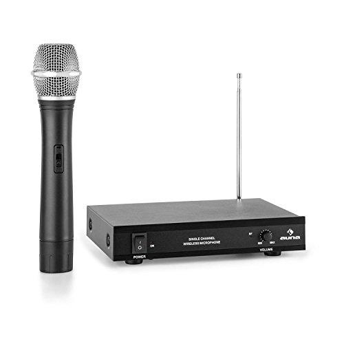 auna VHF-1-H Micrófono de mano inalámbrico VHF de 1 canal