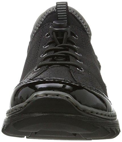 Rieker Damen M6264 Sneaker Schwarz (schwarz/schwarz/schwarz/schwarz/grey)