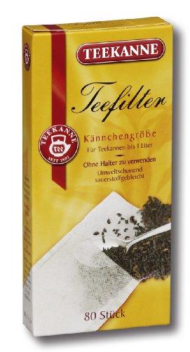 Teekanne Teefilter (bis 1 Liter), 80 Stück, 5er Pack (5 x  80 Stück)