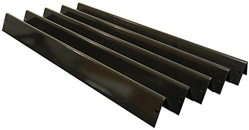 Music City Metals 92451 Juego de ángulos de calor de acero con porcelana para parrillas de gas de la marca Weber, color negro, (5 piezas)