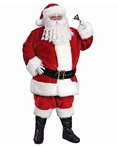 6Regency Plüsch Santa Claus Weihnachten Anzug Kostüm–Erwachsene plus Größe 50–54 (Regency Kostüme)