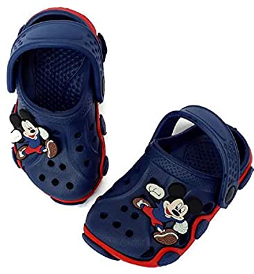 NEW AMERICAN Kids Attractive Clogs (6 to 12 Month, Navy Blue/RED)