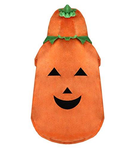 tore Medium Hund Kleidung für weiblich Stecker Kürbis Hund Kostüm Hoodie Hundemantel Winter Orange (Orange Jumpsuit Kostüm Weiblich)