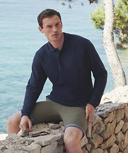 Fruit of the Loom: Premium Long Sleeve Polo 63-310-0, Größe:M;Farbe:Black -