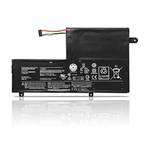 K KYUER 45Wh L14M3P21 Laptop Akku für Lenovo Flex 3 14 15 1435 1470 1480 1570 1580 3-14-ALEI IFI ISE IdeaPad 310S-14AST 510S-14ISK Yoga 500 14ISK 14IBD Edge 2-1580 L14L3P21 Notebook Battery Batterie