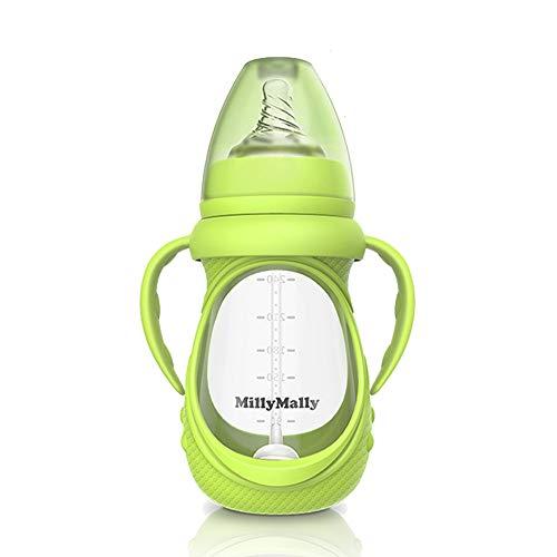 Decdeal Glas Babyflasche mit Abnehmbarer Griff Anti-Kolik 150ml / 240ml Optional MillyMally