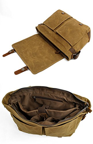 Gendi Sacchetti di spalla casuali del sacchetto del messaggero di cuoio reale della tela di canapa degli uomini militari dellannata Verde Salida Libre Del Envío Envío Libre Confiable Exclusiva Línea cCTpRoetjw