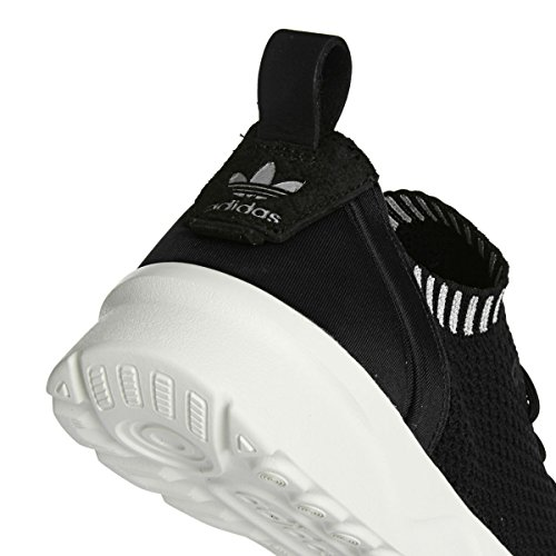 adidas ZX Flux ADV Virtue Primeknit W Black White Metallic Silver Schwarz