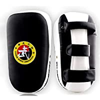 APJJ PU Punch Pad Muay Thai | Escudos para Patadas | Paos De Boxeo | Boxeo Kick Shield | Muay Thai Taekwondo Sanda Fight Training,Blanco