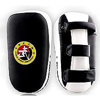 APJJ PU Punch Pad Muay Thai | Escudos para Patadas | Paos De Boxeo | Boxeo Kick Shield | Muay Thai Taekwondo Sanda Fight Training,Blanco