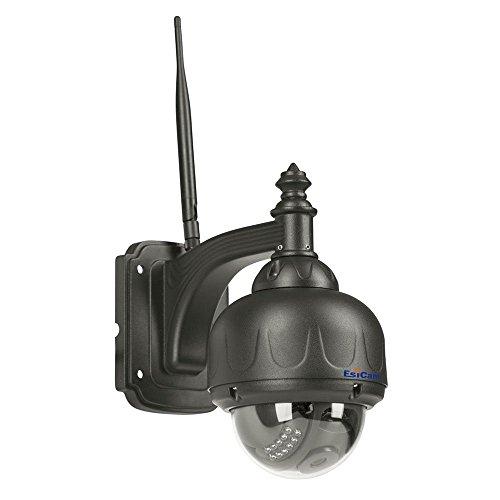 EsiCam HN11 720P impermeabile WIFI Speed di sorveglianza della cupola Camera PT Macchina fotografica IP esterna senza fili con il supporto IOS e Android Sensore CMOS Pan Tilt (355 gradi / 90 gradi)