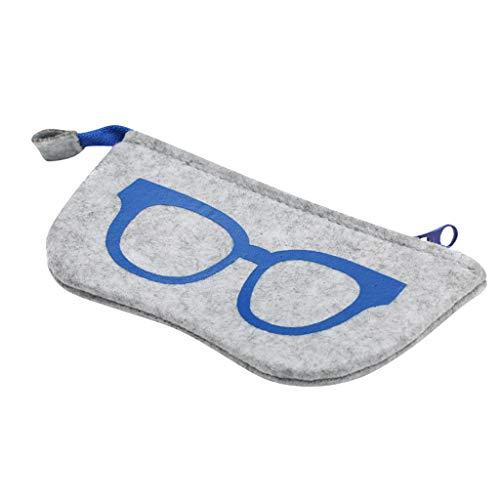 Mitlfuny handbemalte Ledertasche, Schultertasche, Geschenk, Handgefertigte Tasche,Neue Brillen Tasche Filz Brillen Tasche Mode Reißverschlusstasche Multifunktions Brillen Tasche