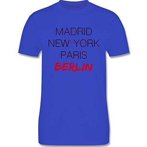 Städte - Weltstadt Berlin - Herren Premium T-Shirt Royalblau