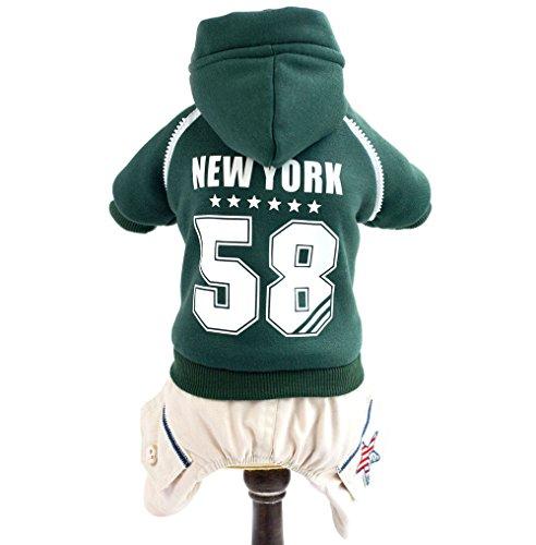 (smalllee _ Lucky _ store Warm Winter Coat Pet Klein Hund Katze Kleidung Kostüm Fleece Hoodie Sweatshirt Jacke Hose Vierbein Set)