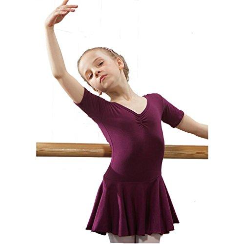 Byjia Ballett Gymnastik Praxis Match Kleidung Tanz Mädchen Kleid Kindergarten Kinder Prinzessin Tulle Party Kinder Bühnen Studenten Gruppe Team Leistung Kostüme 3# 120Cm (Eine Gruppe Von 3 Halloween Kostüme)