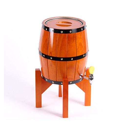 HuaHua Furniture Weinfass, Vertikale Weinfässer, in denen Fassbier aus rostfreiem Stahl gelagert Wird. Weinkühlende Eichenfässer mit Weinregal (Color : C, Size : 5L) -