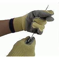 Antitaglio Autentico Resistente Guanto Resistente al Calore W / Leather Palm