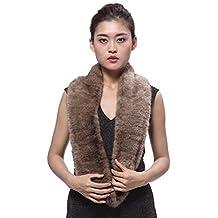 BeFur Bufanda de invierno para mujer en forma de anillo de pelo de visón