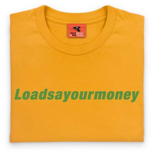 Square Mile Loadsayourmoney T-Shirt, Herren Gelb