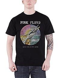 Pink Floyd T Shirt Wish You Were Here distressed Nue offiziell Herren Schwarz