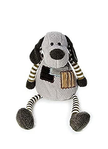 Adorable Stuffed Animal Puppy Dog Soft Toy Teddy with Striped Arms and Legs 30 cm