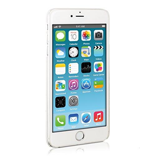 kwmobile Cover per Apple iPhone 6 Plus / 6S Plus - Custodia rigida in plastica per cellulare - Hard case back cover Design legno vintage marrone chiaro gocce di pioggia trasparente