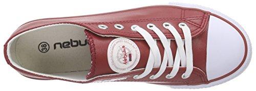 Nebulus - Voll-leder-legara, Scarpe da ginnastica Donna Rosso (Rosso (rosso))