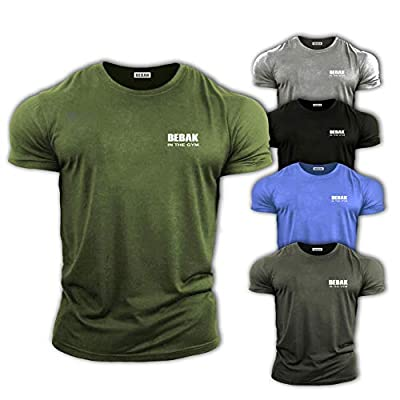 GYM CLOTHES FOR MEN Gym T Shirt Bodybuilding T Shirts Gym Clothes - BEBAK Workout Top Training Tops Arnold Schwarzenegger inspired design T Shirt MMA by Bebak Active