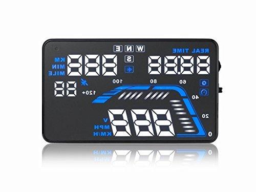 Q7, 14cm Auto HUD Head Up Display GPS Speed WARNING System brennstoffverbrauch NEU