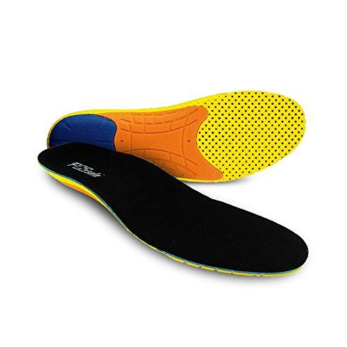 PCSsole Solette per Scarpe da Corsa, Solette Sportive in Memory Foam Plantari Ortopediche che Forniscono un Eccellente Assorbimento Degli urti per Uomo Donna (EU40-46)