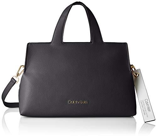 Calvin Klein Damen Neat Tote Schwarz (Black) 18x23x36 cm -