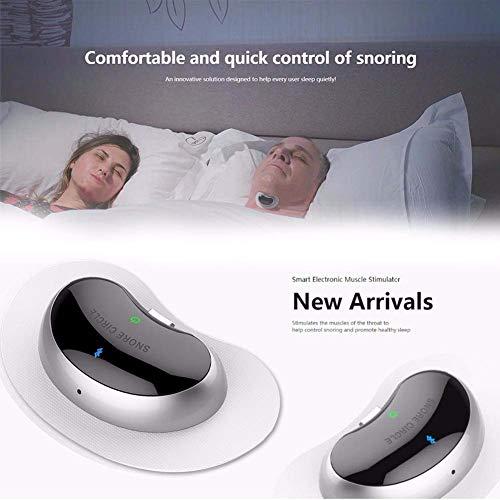 Schnarchgerät Elektronische Stummschaltung Gesundheit Schlafen Mini-Schlafmonitor Vibrationsbenachrichtigung Erleichtern Sie das Atmen Anti-Schnarch-Gerät Stoppen Sie das Schnarchen auf natürliche -