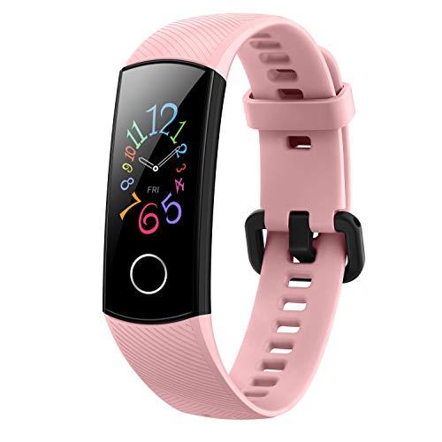 Honor Band 5 wasserdichter Bluetooth Fitness Aktivitätstracker mit Herzfrequenzmesser, AMOLED-Farbdisplay, Touchscreen, Coral Pink