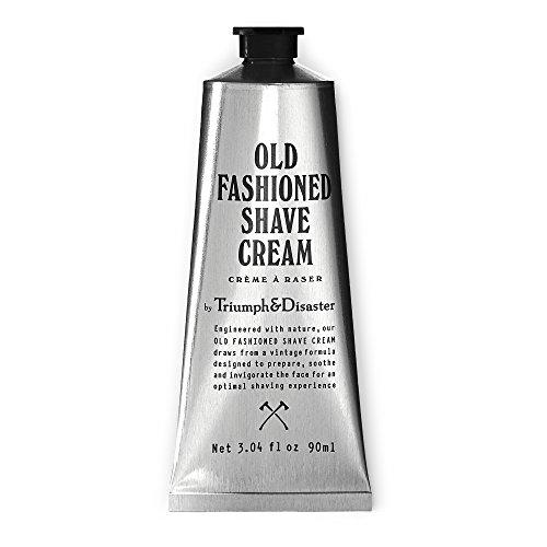 Triumph & Disaster Alte Art Shacle creme - 90 ml Tube (gibt 90 + Rasuren) - mit organischen Verbindungen Kokosöl-Extrakte und Wirkstoffe, um eine glatte enge und komfortable Nassrasur zu liefern
