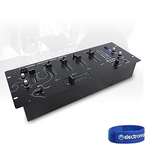 Skytec STM-3002 Black 4 Channel 19 Inch Rack Mount DJ Disco Party Karaoke Mixer