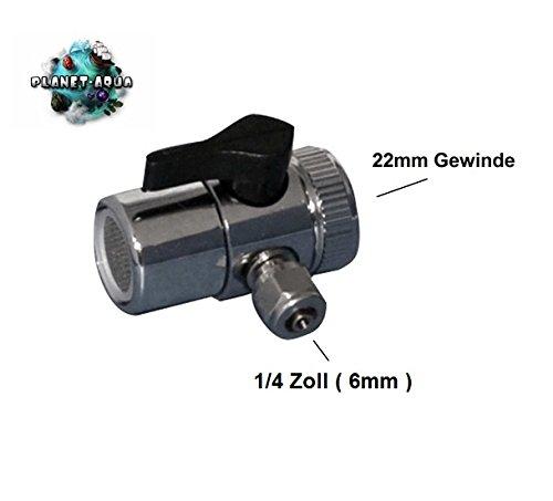 Universal Wasserhahn Adapter ohne Doppelgewinde Adapter für den Anschluss an die Armatur mit Perlator - Wasserfilter Küchenfilter Osmoseanlage Umkehrosmose Schnellverbindung Verbinder Aquarium Filter Osmose